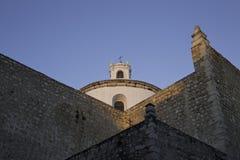 MERIDA - YUCATAN: MAJ 2017: Sikt av den gamla kyrkan som lokaliseras i mitten av staden arkivbild