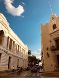 MERIDA-YUCATAN-MEXICO-APRIL-2019: View of the Peon Contreras Theater which was inaugurated on December 21 of 1908. stock photography