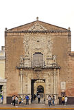 Merida, Yucatan Mexico, January 22, 2015: Facad of a historical building in Merida Mexico. Stock Image