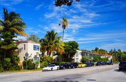 Meridian Avenue of Miami Beach. Meridian Avenue of Miami Beach, United States stock photo