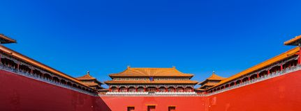 The Ancient Wall of Forbidden City stock image