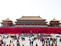 The Meridian Gate of Beijing Forbidden City Stock Image