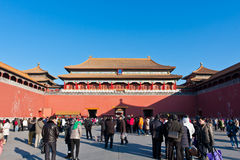 The Meridian Gate of the Forbidden City Stock Images