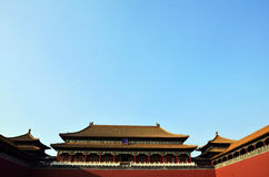 Meridian gate of the forbidden city Stock Photos