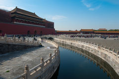 Meridian Gate Of Forbidden City Under Repair Stock Image