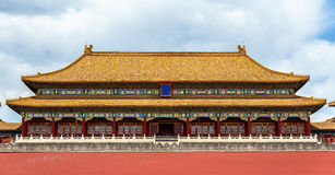 Meridian Gate of the Palace Museum or Forbidden City in Beijing Royalty Free Stock Image