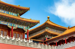 Meridian Gate of the Palace Museum or Forbidden City in Beijing Royalty Free Stock Photo
