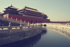 The Meridian Gate at the Palace Museum (Forbidden City) Stock Photos