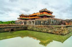 Meridian Gate to the Imperial City in Hue, Vietnam. Meridian Gate to the Imperial City in Hue. UNESCO world heritage in Vietnam stock images