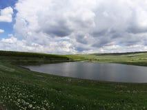 Meridian lake stock image