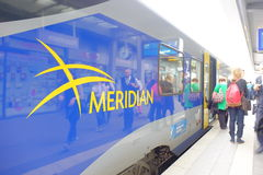 Meridian passengers Royalty Free Stock Image