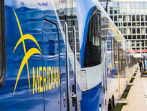 Meridian train. One of the new Meridian trains being used in southern Bavaria Royalty Free Stock Photo