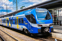 Meridian train. One of the new Meridian trains being used in southern Bavaria Royalty Free Stock Photography