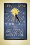 Meridiana, солнечные часы времени, Солсбери, Великобритания Стоковое Фото