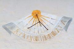 Meridiana, солнечные часы времени, Val Badia, доломиты, Sudtirol Стоковые Фотографии RF