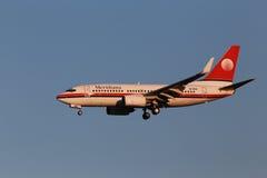 Meridiana Boeing 737-700 flygplan Royaltyfri Foto