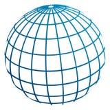 Meridiani del globo/modello di terra illustrazione vettoriale