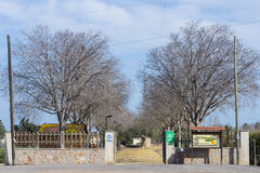 Meridiano park. Entrance to Meridiano Park (Castellon, Spain royalty free stock image