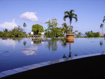 Meridien resort Tahiti. Outdoor view on the Meridien resort of Tahiti Stock Photography