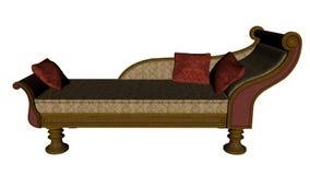 Meridienne、葡萄酒沙发或者床- 3D回报 向量例证