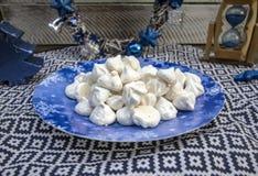 Meringa croccante dolce Fotografia Stock