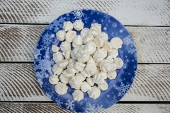 Meringa croccante dolce Fotografia Stock Libera da Diritti