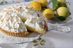 Meringa del limone e del al de Torta Foto de archivo