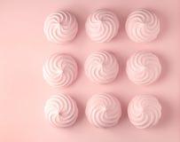 Meringhe rosa fotografie stock libere da diritti