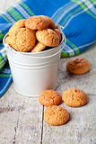 Meringue almond cookies in bucket Stock Images