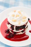 Meringue with berry layers Royalty Free Stock Image