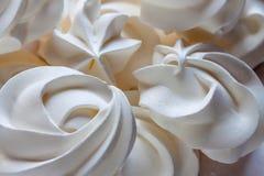 Meringue blanche - dessert simple d'été Image libre de droits