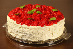 Meringue cake Stock Images