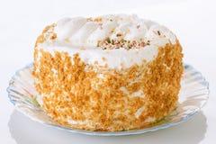 Meringue cake with almonds Royalty Free Stock Photo