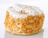 Meringue cake with almonds Stock Images