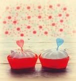 Meringue cake valentine day Stock Image
