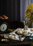 Meringue cakes Pavlova royalty free stock photos