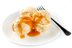 Meringue with Caramel sauce Stock Image
