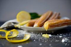 Meringue Churro de citron Photographie stock