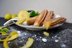 Meringue Churros de citron Images stock