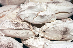 Meringue with cinnamon Royalty Free Stock Photos