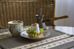 Meringue and coffe turk Stock Images
