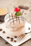 Meringue with coffee cream. Stock Images