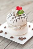 Meringue with coffee cream. Royalty Free Stock Image
