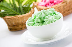 Meringue cookies Stock Photos