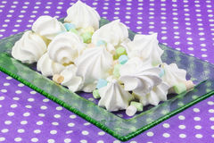 Meringue cookies with marshmallows Stock Image