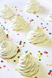 Meringue cookies with sprinkles Royalty Free Stock Photo