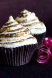 Meringue cupcakes Royalty Free Stock Photography