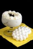 Meringue dessert stock images