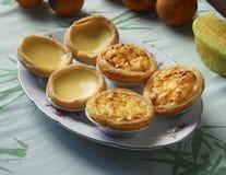 Meringue egg tarts and Portuguese tarts Royalty Free Stock Image
