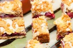 Meringue fruit cake Stock Photo